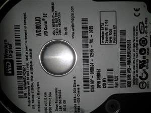 4 hard drives