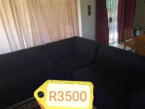 Black corner couch for sale