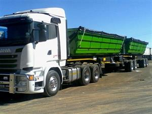 34 TON SIDE TIPPER TRUCKS FOR HIRE @0780400016