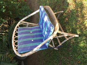 2 Cane Patio Chairs