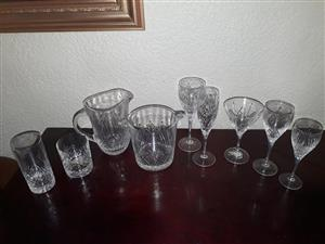 86 piece lead crystal glass sent.  Perfect condition.  100% complete.