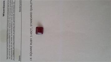 Natural Ruby 3.45 ct