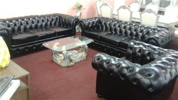 Chesterfield Leather 7-seater suite