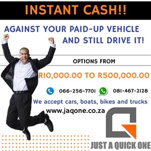 Pawn your car and STILL DRIVE IT for QUICK CASH!