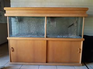 Oak Style Fish Tank - With Accessories & Extras