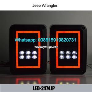 Jeep wrangler reverser brake turn signal LED rear tail light Brake Turninglights