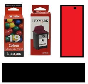 Lexmark Ink Cartridges 19 Colour, 20 Colour, 31 Photo, 40 Photo, 43 XL Colour, 50 Black, 83 Colour.
