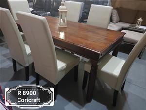 Coricraft 6 seater dining suite