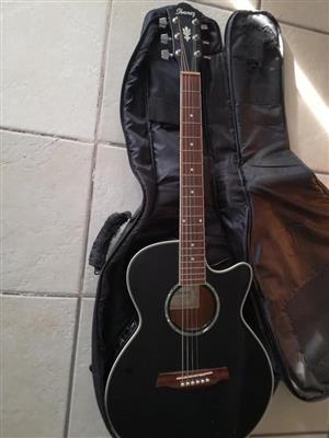 Ibanes acoustic guitar with fishman fishman pickup