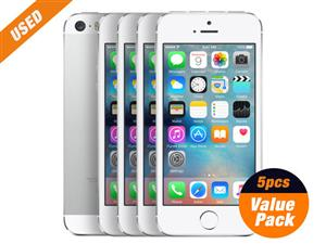 Used 5pcs of Apple iPhone5s 16GB Silver 4inch SIM Unlocked