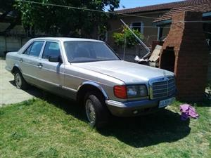 Mercedes 380SE Complete Body and Interior no Engine and Gearbox, no papers