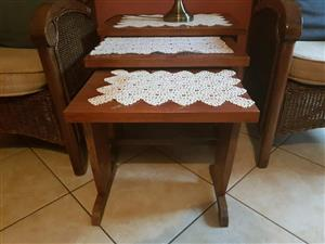 3 x stackable coffee tables