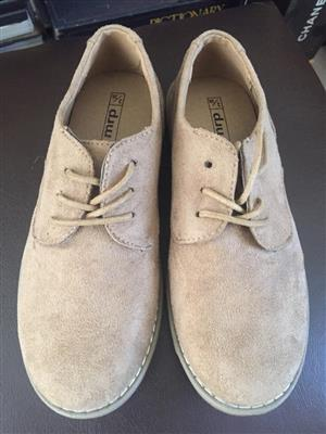 Boys lace-up Suede upper Size 3 shoes - brand new and unused