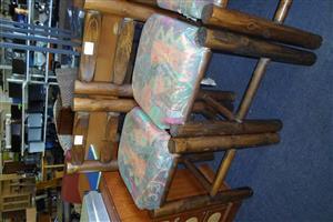 Wooden Bar Chairs - B033043735-3