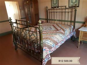 Brass bed and mattress for sale