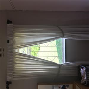 Beige curtains. Good condition. 5 drops. R1,000