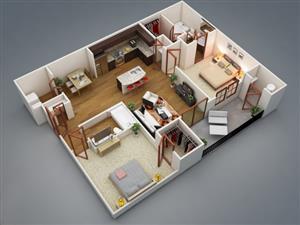 Krugersdorp. Luipaardsvlei. Spacious 2 bedroom flat to let.