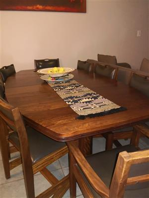 Solid Imbuia wood dinning room table