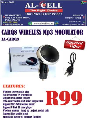 CAR-Q8 Wireless MP3 Modulator