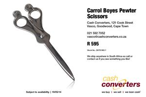 Carrol Boyes Pewter Scissors