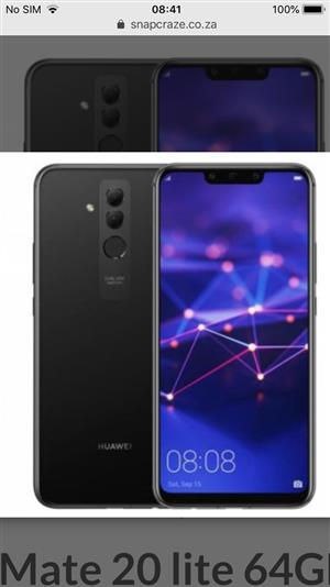 Huawei mate 20 lite for sale