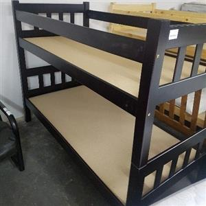 double bunk beds. pine