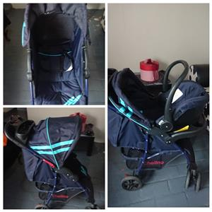 Baby pram with Infant car seat for sale