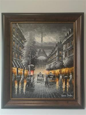 Paris nightlife oil painting by Grace Denton
