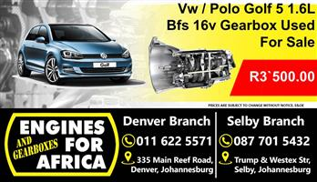 Vw Polo / Golf 1.6L Bfs Gearbox For Sale