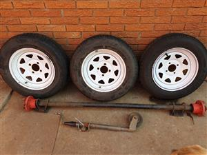 Trailer axle, Wheels, Spare wheel & Jockey wheel