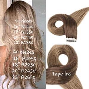 100% human tape in hair