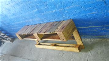 Pallet wall tv stand