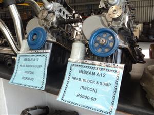 NISSAN A12 HEAD, BLOCK & SUMP RECON R5900