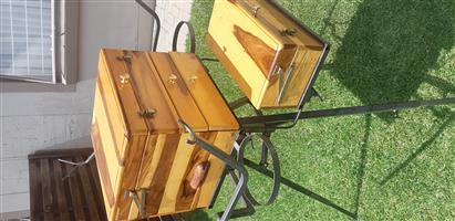 Kiaat box plus battle box and trippd stand