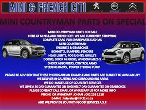 USED CAR PARTS AND ACCESSORIES FOR MINI COOPER COUNTRYMAN