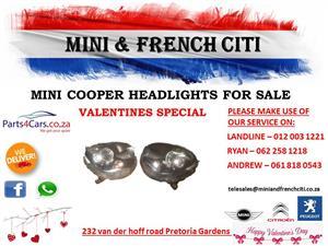Mini cooper headlights for sale!!