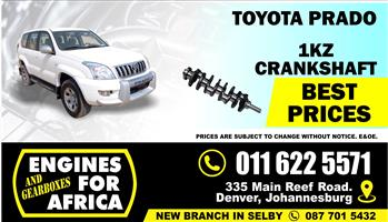 New Toyota Prado/Hilux 1KZ-TE 3.0Tdi Crankshaft FOR SALE