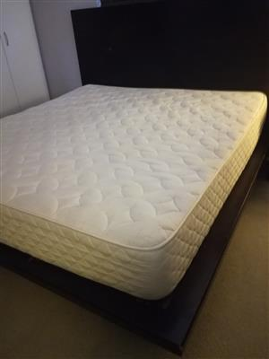 King size extra length bed base and mattress