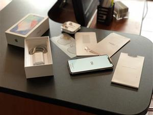 In Box, mint condition, Beautiful iPhone X 64GB with Original Charging block & Original Lightning USB cable included in Sale...