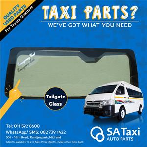 Tailgate Glass suitable for Toyota Quantum - SA Taxi Auto Parts quality used spares
