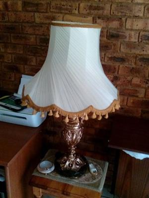 Marble and brass lampshade