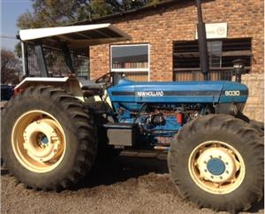 S3264 Blue New Holland 8030 90.5kW/ 121Hp 4x4 Pre-Owned Tractor