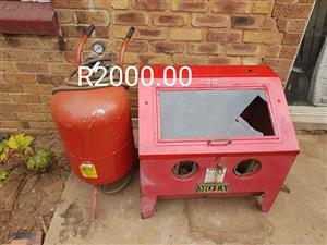 Mota case and fire extinguisher