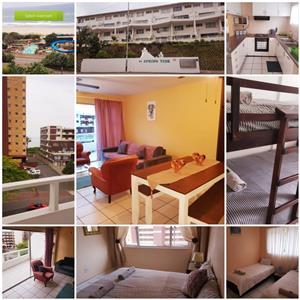 Investment property or holiday home in Durban For Sale.  3 bedroom beachfront Duplex situated in Amanzimtoti in Durban South