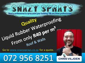 Liquid Rubber Waterproofing - Spray-paint your home and roof today!