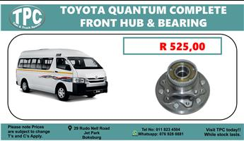 Toyota Quantum Complete Front Hub & Bearing - For Sale at TPC