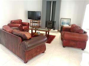 Genuine Kudu Leather Lounge Suite