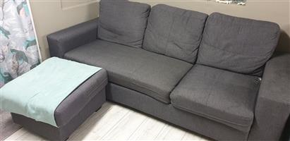 3 1/2 Used grey seater couch for sale