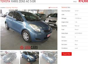 2011 Toyota Yaris sedan 1.3 Zen3 S