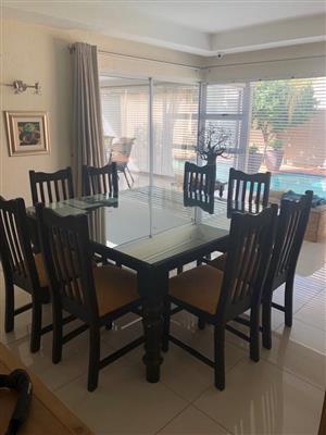 8 seater glass dining table for sale  Johannesburg - East Rand